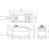 Savöx SC-1252MG alacsony profilú szervó (0.07s/7.0kg/6.0V)
