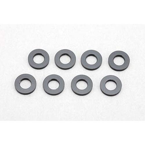Yokomo 3×6×2.0mm Alumínium hézagoló (8db, fekete)