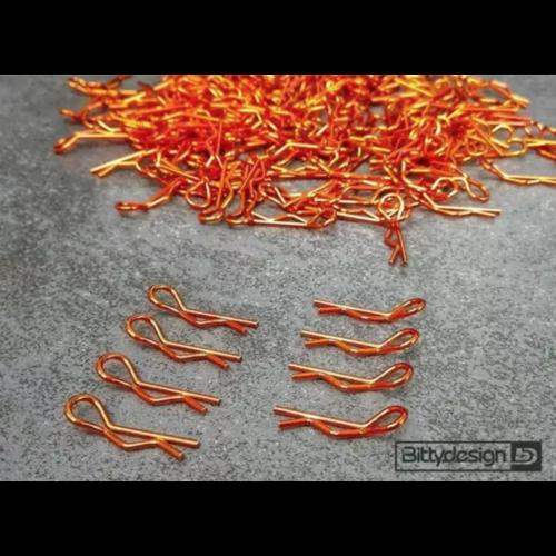 Narancssárga kaszni rögzítő klipsz 8db