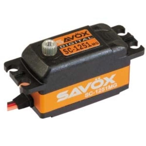 Savöx SC-1251MG alacsony profilú szervó (0.09s/9.0kg/6.0V)